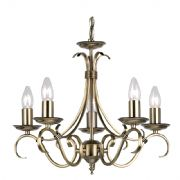 Bernice 5 Light Fitting in Antique Brass - ENDON 2030-5AN